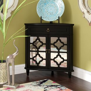 Charlwood Wooden Corner Accent Cabinet with 1 Drawer and 2 Doors by Bungalow Rose