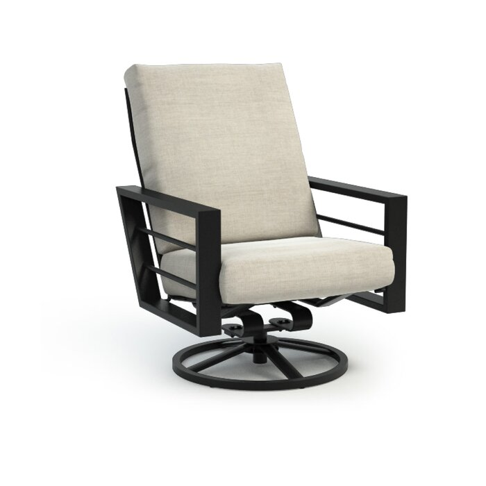 Super Niles High Back Rocker Chat Swivel Patio Chair With Sunbrella Cushions Cjindustries Chair Design For Home Cjindustriesco