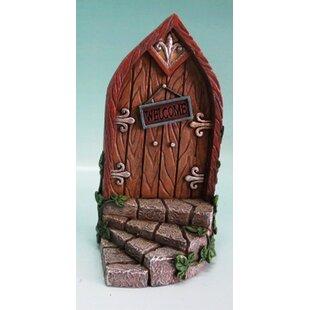 Fairy Mini Garden Door with Welcome Sign by Hi-Line Gift Ltd.