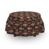 Submarines and Airships Ottoman Slipcover (Set of 2) by East Urban Home