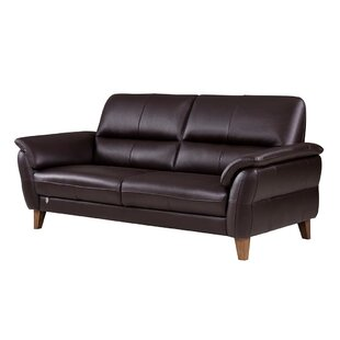 Brayden Studio Shriner Leather Sofa