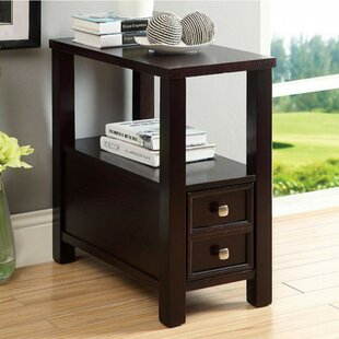 Brookvale End Table with Storage by World Menagerie