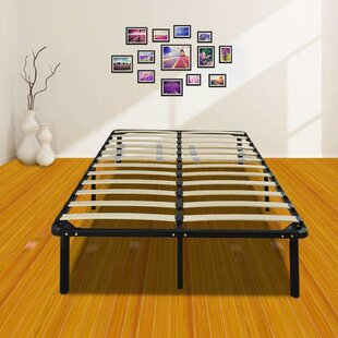 Fitzgerald 14 Wooden Slat and Iron Stand Bed Frame by Alwyn Home