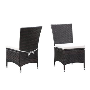 Ellie Patio Dining Chair with Cushion (Set of 2) by Ivy Bronx