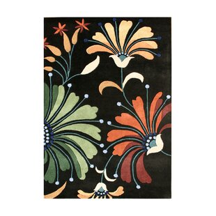 Online Reviews Pinzon Hand-Tufted Black Area Rug By The Conestoga Trading Co.