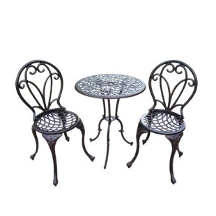 Ericka 3 Piece Bistro Set