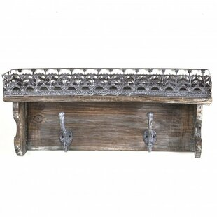 One Allium Way Alejo Wooden Wall Shelf