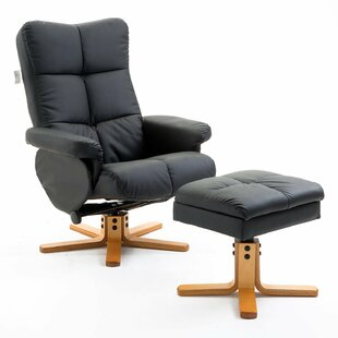 Charlestown Manual Swivel Recliner With Footstool By Zipcode Design