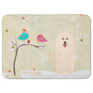 Bargain Christmas Presents Friends Samoyed Memory Foam Bath Rug By The Holiday Aisle