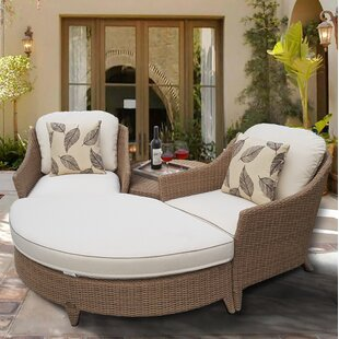 Nantucket 4 Piece 2 Person Seating Group With Cushions by Rosecliff Heights Comparison