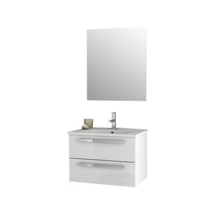 Dadila 26 Wall-Mounted Single Bathroom Vanity Set with Mirror