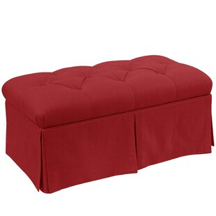 Craven Tufted Linen Skirted Storage Bench