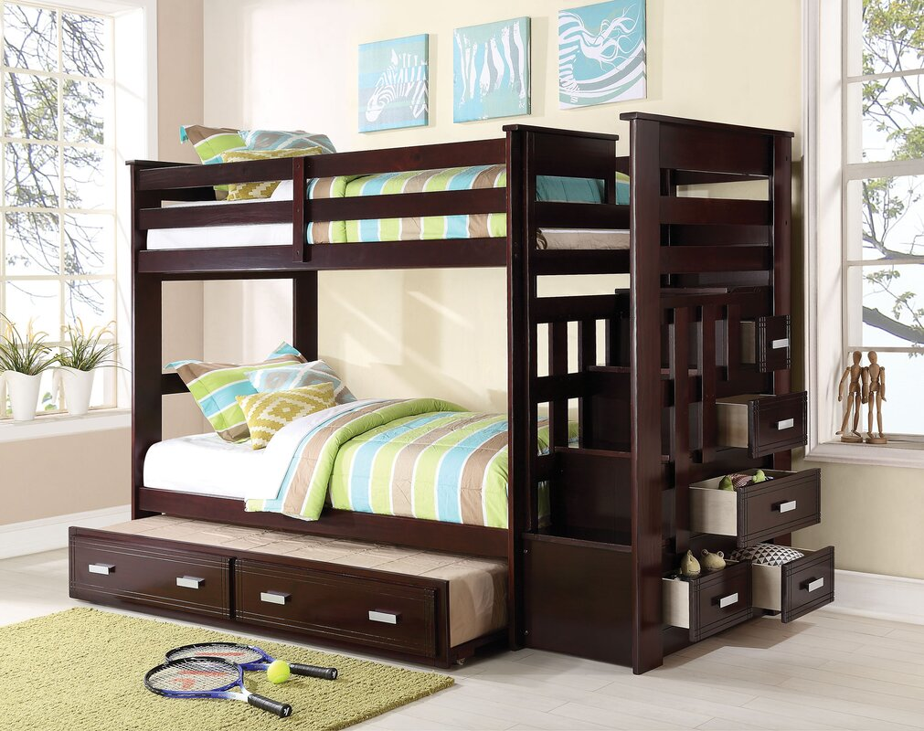 Allentown Twin Over Twin Bunk Bed With Trundle