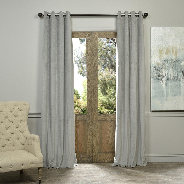 Three Posts Sharpe Solid Velvet Blackout Grommet Single Curtain Panel & Reviews | Wayfair