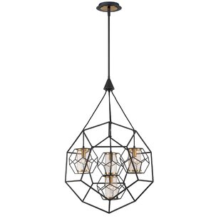 Luker Caged 4-Light Chande..