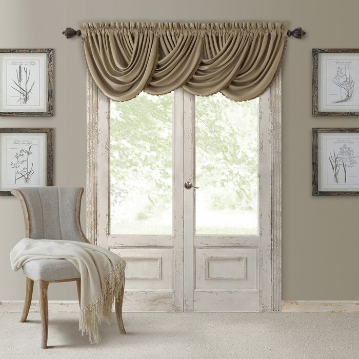 itm drapes window scarf with room ebay drape living valances curtain panel door balcony floral valance sheers