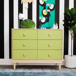 Lukka 6 Drawer Double Dresser by Nico and Yeye