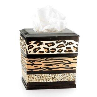 Bloomsbury Market Nikodemos Animal Print Bathroom Resin Tissue Box Cover