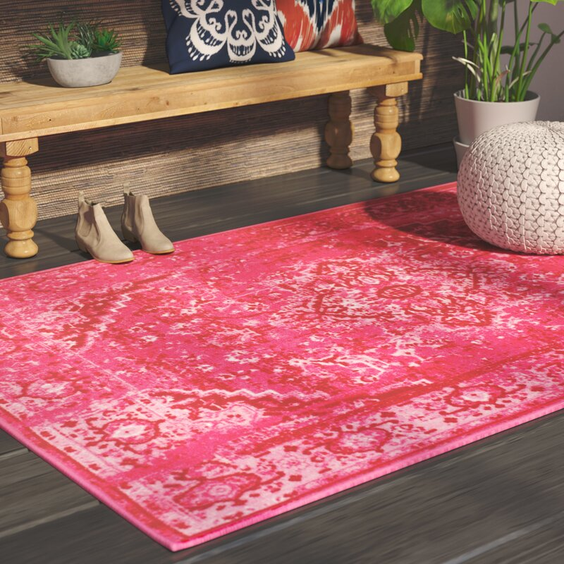 Mistana Decker Pink Area Rug & Reviews | Wayfair