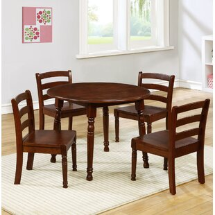 Kids 5 Piece Round Table and Chair Set & Round Kidsu0027 Table u0026 Chair Sets Youu0027ll Love | Wayfair