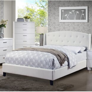 feature Best Reviews Halloran Upholstered Platform Bed By Alcott Hill