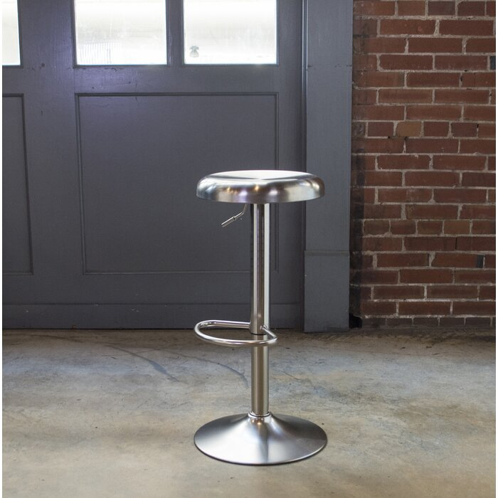 Super Winon Loft Stainless Steel Adjustable Height Swivel Bar Stool Gmtry Best Dining Table And Chair Ideas Images Gmtryco