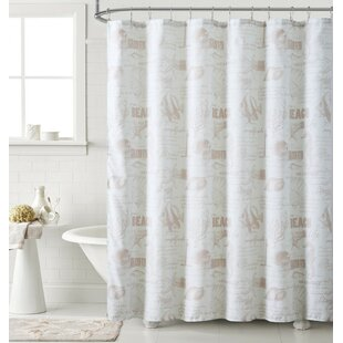 Best Price Ray Printed Shower Curtain By Highland Dunes