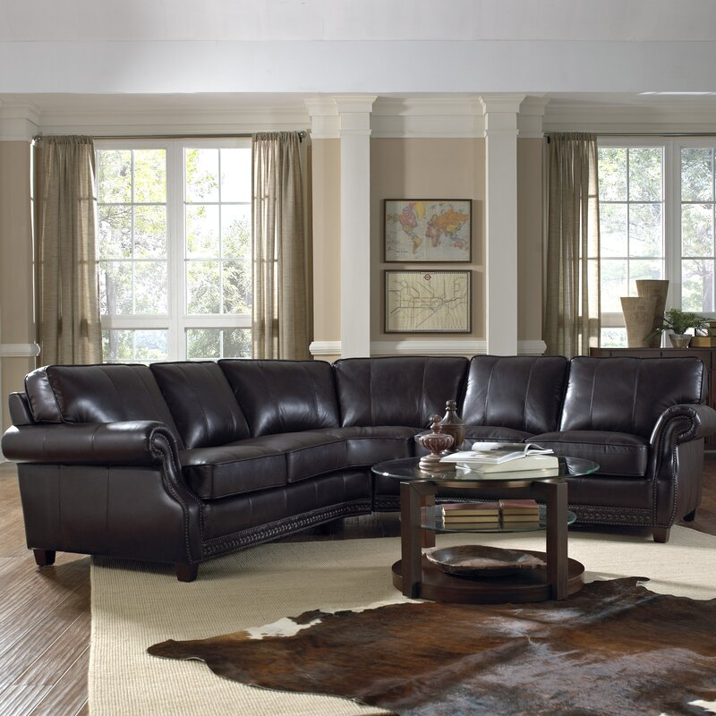 Lazzaro Leather Anna Sectional Reviews Wayfair