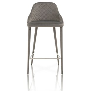 Leachville Velvet Upholstery Bar Stool (Set of 2) by Everly Quinn