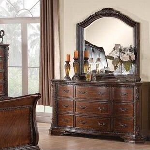 Maya 9 Drawer Dresser with Mirror by Astoria Grand