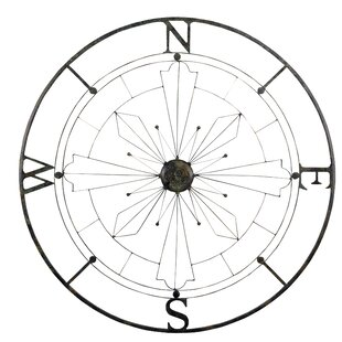 Complex Metal Compass Wall Décor