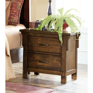 Millwood Pines Dowell 2 Drawer Nightstand