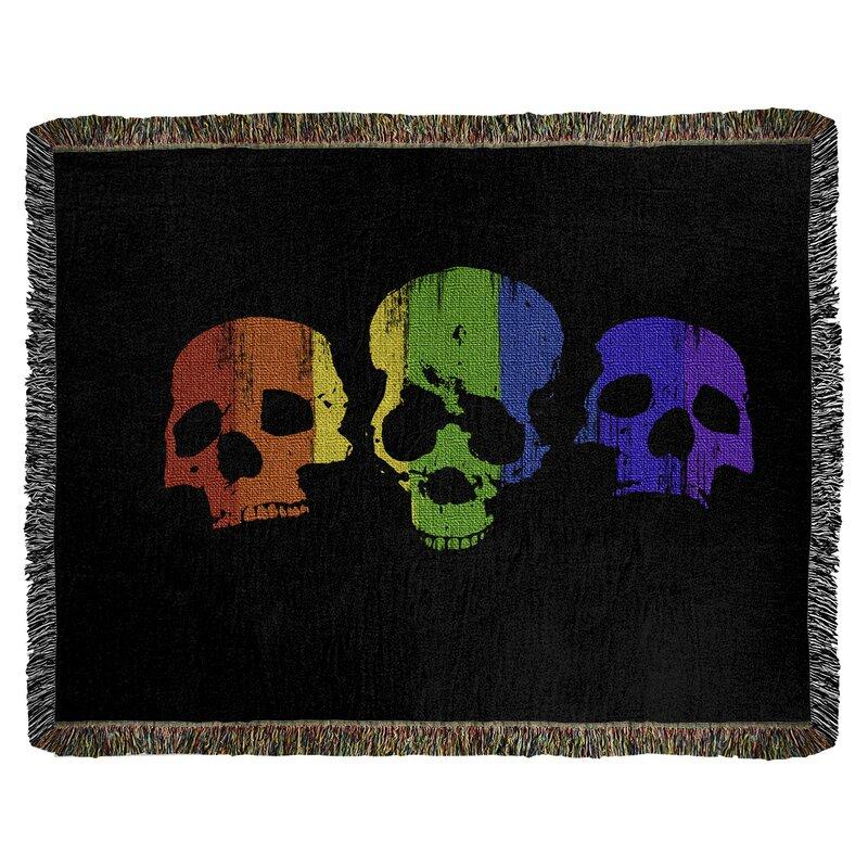 Latitude Run Hansard Skulls Cotton Throw Wayfair