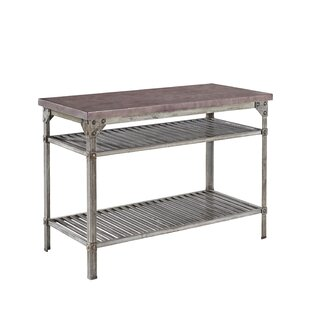 Urban Style Prep Table with Concrete Top by Home Styles