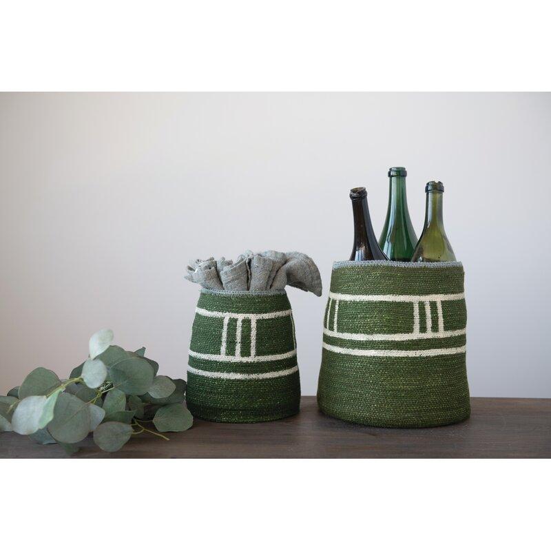 Gracie Oaks Seagrass 2 Pieces Basket Set Wayfair