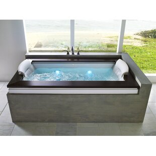 "Fuzion Illuma LCD Whisper Right-Hand 72"" x 42"" Drop-In Whirlpool Bathtub"
