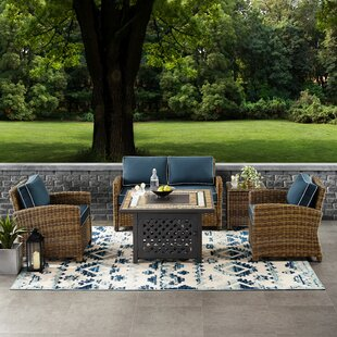 Lawson 5-Piece Rattan Sectional Seating Group with Cushions
