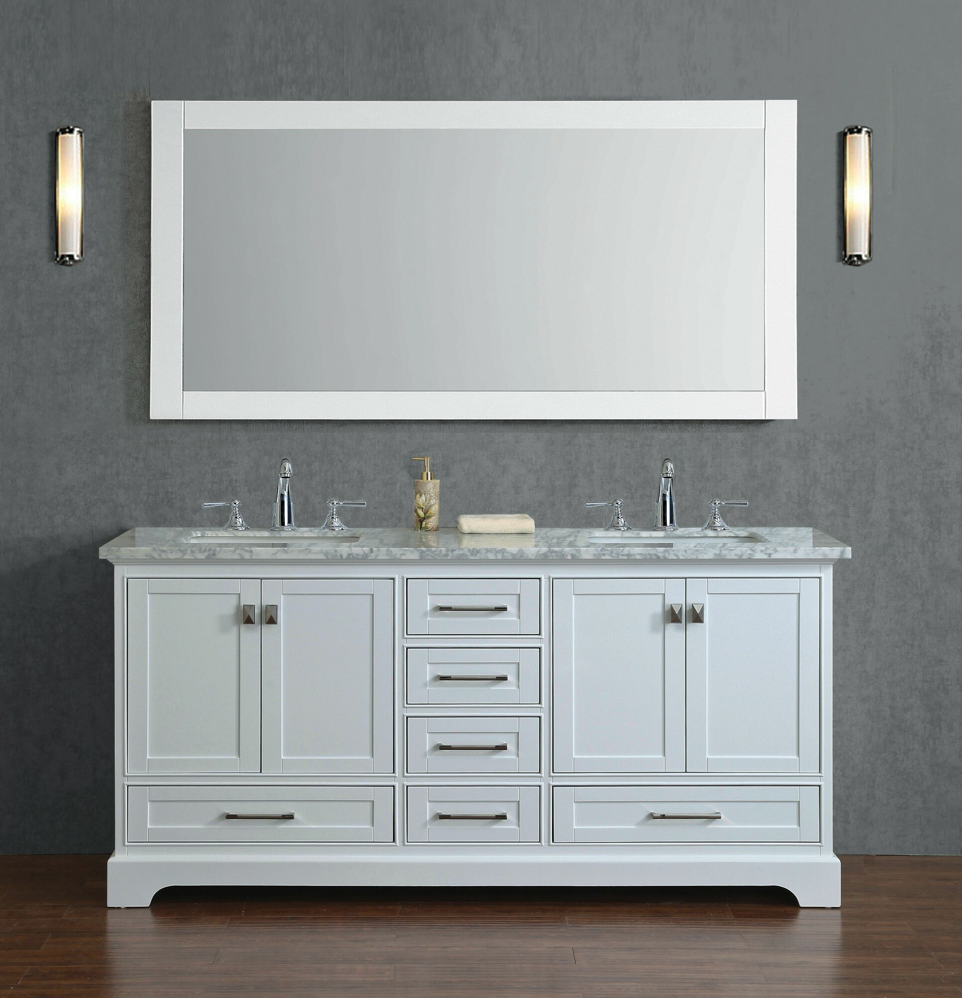Willa Arlo Interiors Stian 72 Double Bathroom Vanity Set With Mirror Reviews Wayfair