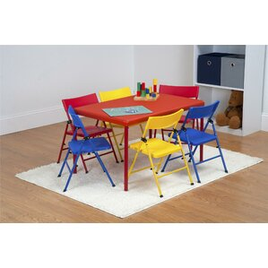 Adrian Kids 7 Piece Rectangular Table And Chair Set