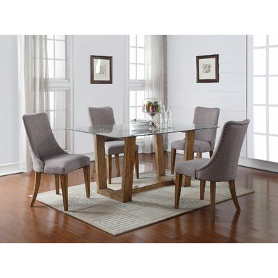 Forestville Dining Table Base Finish: Light Brown by Darby Home Co