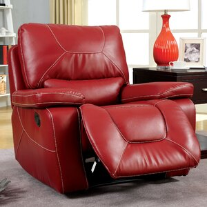 Lockheart Leather Manual Glider Recliner