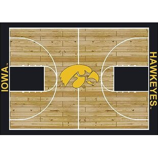 Bargain NCAA College Home Court Iowa Novelty Rug By My Team by Milliken