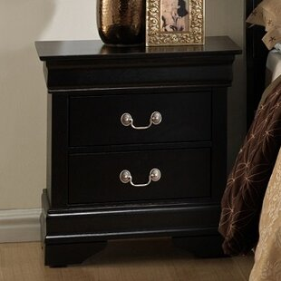Isony 594 Louis Philippe 2 Drawers Nightstand By Roundhill Furniture