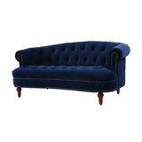 """Anderson Chesterfield 69"""" Rolled Arm Loveseat"""