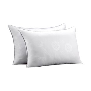 Free Firm Rectangular Gel Fiber Pillow (Set Of 2) by Alwyn Home Looking for