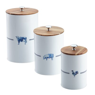Kitchen 3 Piece Canister Set