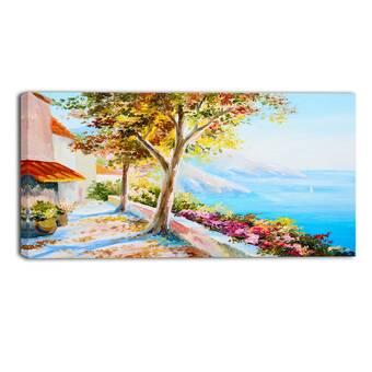 Designart Quiet And Silent Autumn Landscape Painting Print On Wrapped Canvas Wayfair