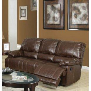Red Barrel Studio Barta Leather Reclining Sofa