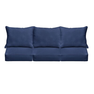 Indoor/Outdoor Sofa Cushion Fabric: Dark Blue
