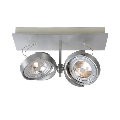 Spectrum 2-Light Ceiling Spotlight Lucide Colour: Silver